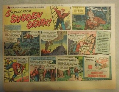 Nabisco Cereal Ad: 5 Inches From Sudden Death ! Shredded Wheats 1930's-1950's