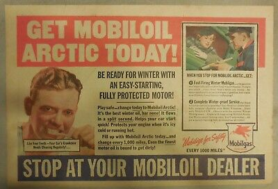 """Mobil  Gas Ad: """"Get Mobil Arctic Todayl!""""  from 1937 Size: 11 x 15 inches"""
