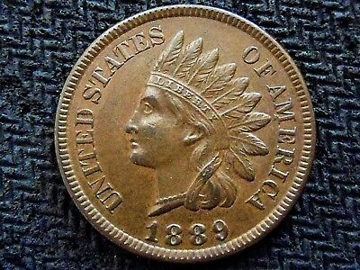 A 1889 Indian Head Nice! Full Liberty!! Diamonds!!!