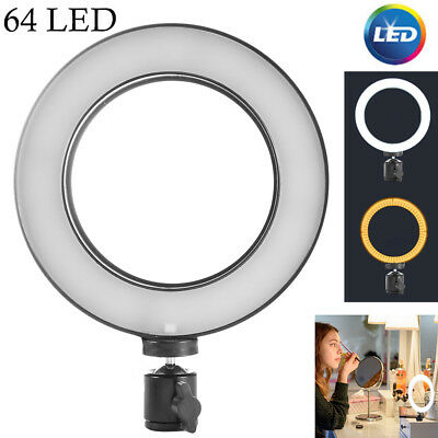 64 LED SMD Dimmable Studio Camera Ring Light Photo Phone Video Annular Lamp