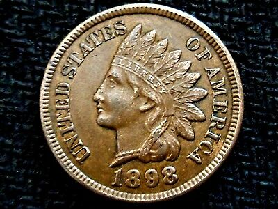 A 1898 Indian Head Nice! Full Liberty!! Diamonds!!!