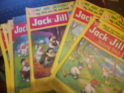 11 issues Jack and Jill Comic 1979-1981.Wombles covers.