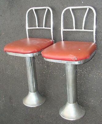 1 Vintage 1950's Stool Ice Cream Parlor / Diner / Soda Fountain Chrome Swiveling