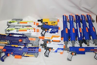 Nerf Gun LOT Nerf N-Strike Long Shot CS-6, Rampage, Raider, + More TESTED