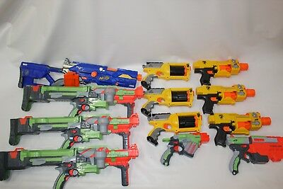 Nerf Gun LOT Nerf N-Strike Long Strike CS-6, Nitron Vortex, Maverick, + & TESTED