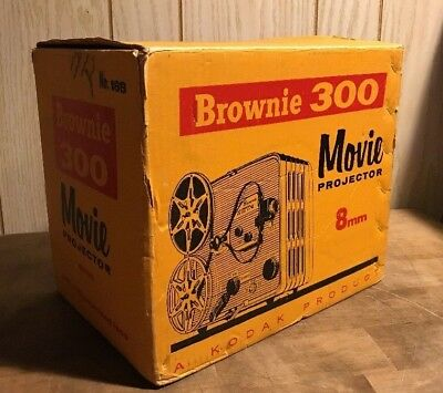Vintage Kodak Brownie 300 Movie Projector 8mm w/Original Box