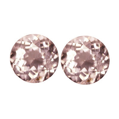 0.93Ct First-class Round cut 5 x 5 mm Top Luster Pink Morganite