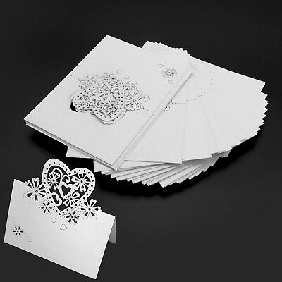 50Pcs/Set Table Name Place Cards Invitaion White for Weddings Party Dinner Decor