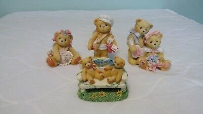 Cherished Teddies Valentines 0Liver & Oliva, Be My Bow, Sent With Love, Heart