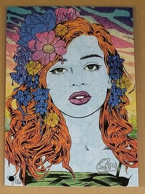 "Chuck Sperry Oracle Blotter Art Print Signed and Numbered by Artist #/150 6""x9"""