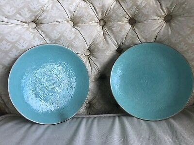 Two Antique Chinese Porcelain dragon plate