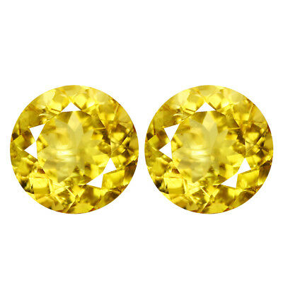 2.08Ct IF Attractive Round Cut 7 x 7 mm Natural AAA Golden Yellow Beryl