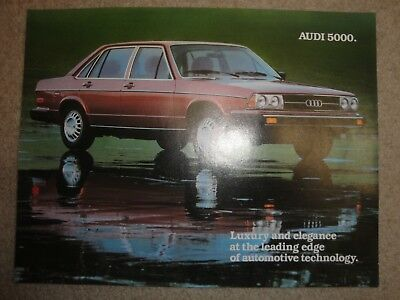 Audi 5000 Advertising Brochure