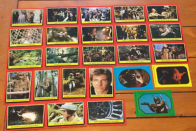 Lot of 48 - 1979/1983 Topps Empire Strikes Back & Black Hole Cards and Stickers