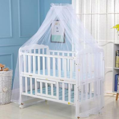Kids Baby Child Cot Bed Mosquito Net Curtain Canopy Dome Mesh Nursery Summer JJ