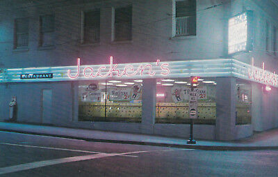 Jacken's Restaurant at night Seattle Washington 1950's