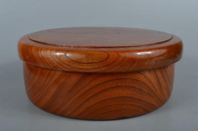 R3980:Japanese Hollowed out WOOODEN SERVING BOWL Box Torikomibon, Sencha