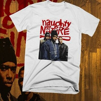 Ringspun Cotton Tee NAUGHTY BY NATURE T-Shirt HipHop Retro 2Pac NWA Ice Cube