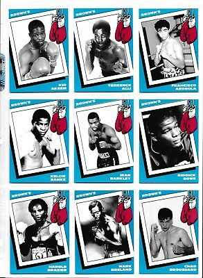 1990 Brown's Boxing Complete Set 72 Cards