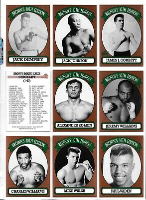 1994 Brown's Boxing Complete Set 84 Cards