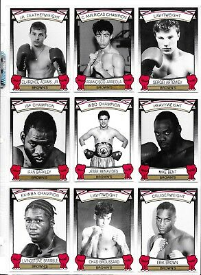 1992 Brown's Boxing Complete Set 72 Cards Card