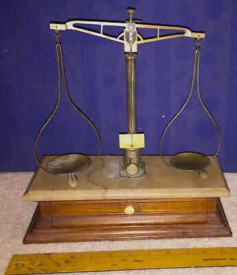 Antique Marble Top Troemner Gold or Apothecary Scale