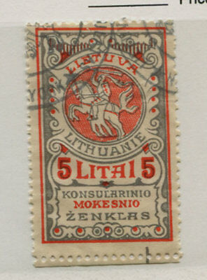 Lithuania Consular Issue 5 Litai