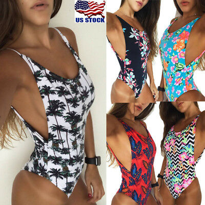 US Women High Waist Swimwear Bikini Set Push-up Padded Bra Bathing Suit Swimsuit