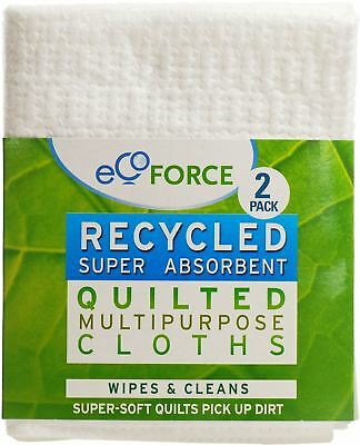 Ecoforce Recycled Multi Purpose Quilted Cloths 2 Pack x 10 Pack