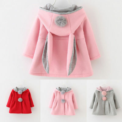 Toddler Baby Girl Winter Warm Cape Coat Hooies Jacket Fur Outerwear Clothes 0~4Y