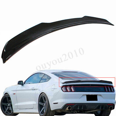 NEW For Ford Mustang 15-18 GT H Style Carbon Fiber Tail Rear Trunk Spoiler Wing