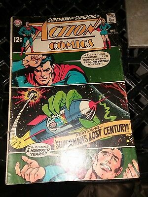 ACTION COMICS #370 superman supergirl 1968 (VG-) SILVER AGE DC comics collection