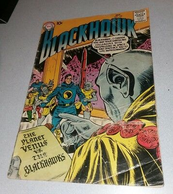 Blackhawk #129 dc comics 1958 Sci-Fi Cover early silver age war previous quality