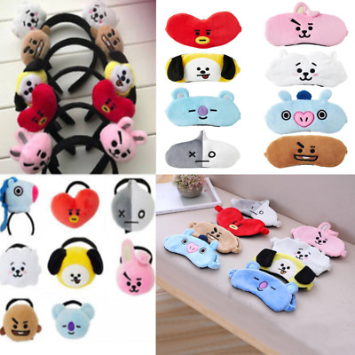 Kpop BTS BT21 Cute Hair Band Tie TATA Chimmy COOKY Wash Cleansing Headband New