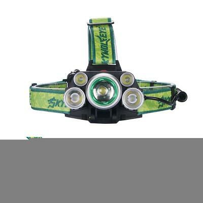 SKYWOLFEYE   5 T6 LED 80000 Lm Headlight Rechargeable USB Zoom Lamp DI
