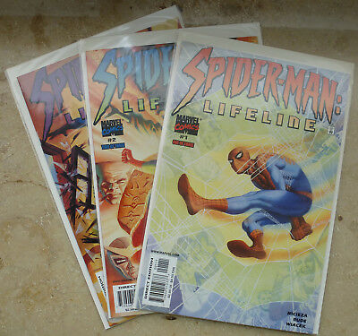 Spider-Man Lifeline #1-3 Top Zustand