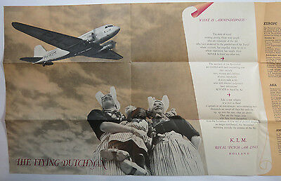 VTG Airline Brochure - KLM Royal Dutch Airlines Holland, 1939, Flying Dutchman