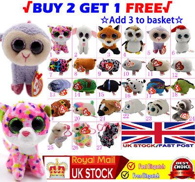 27X Teeny TY Beanie 6cm Mini Plush Stackable Teddy with Tag Full Soft Toy Range