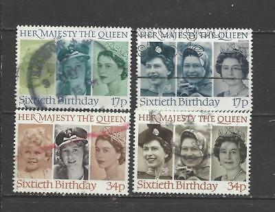 British stamps collection 1986 Queens 60th Birthday SG1316 - SG1319 GB