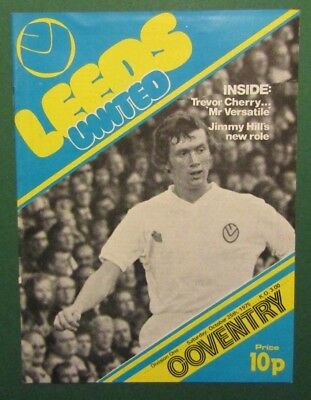 1975/76  Leeds United v Coventry City  Division 1 Programme  25/10/75