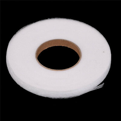 70 Yards White Double Sided Fusible Sewing Fabric Buckram Glue Tape Cloth Mj