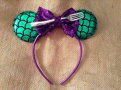 Ariel The Little Mermaid Minnie Mouse Ears headband-handmade-Disney World