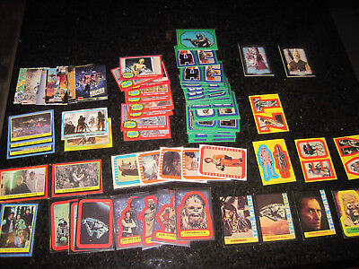 star wars 71  card lot oldies great shape free shipping