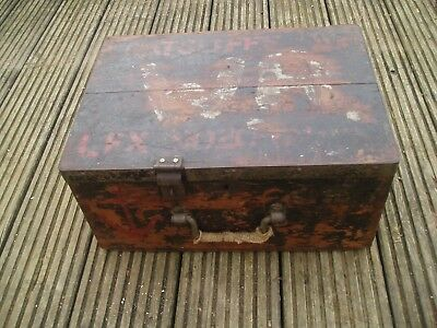 Small Old  Painted Pine Box/trunk