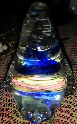Blue And Clear Crystal Penguin 3D Figurine