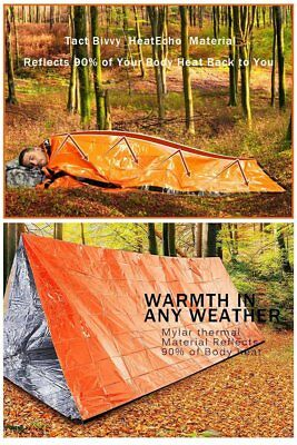 Emergency Blanket Rescue Kit Thermal Space Survival Sleeping Bag Shelter Lot K1