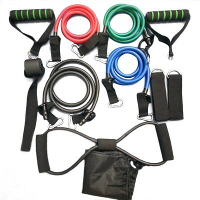 11 Pcs/Set Multifunctional Rally Pull Rope Muscle Training Resistance Bands K63