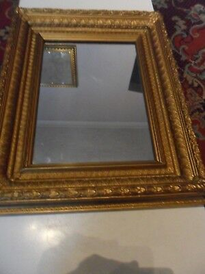 Outstanding Heavy Gilt Wood Framed Vintage Mirror