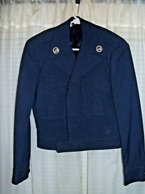 """Vintage, 1949, US Air Force Blue """"Ike"""" Jacket, Size 32 R, Great Condition!"""