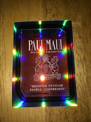 2014 Wacky Packages Chrome Refractor Card Paul Maul Cigarettes Before Laws 9 Cig